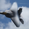 F-22 Raptor displaying nice transonic vapor shockwave!